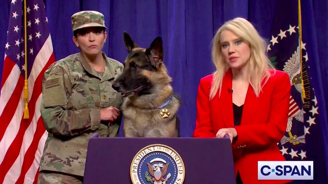 SNL's Kellyanne Conway and the Baghdadi Raid's Hero Dog Mock Trump