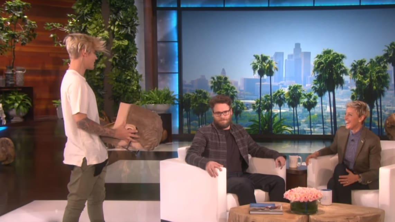 Seth Rogen and Justin Bieber End Their 'Beef' on Ellen