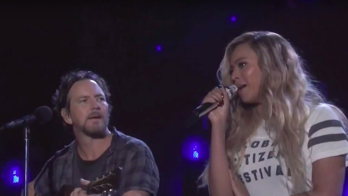 Eddie Vedder and Beyonce Cover Bob Marley's 'Redemption Song'