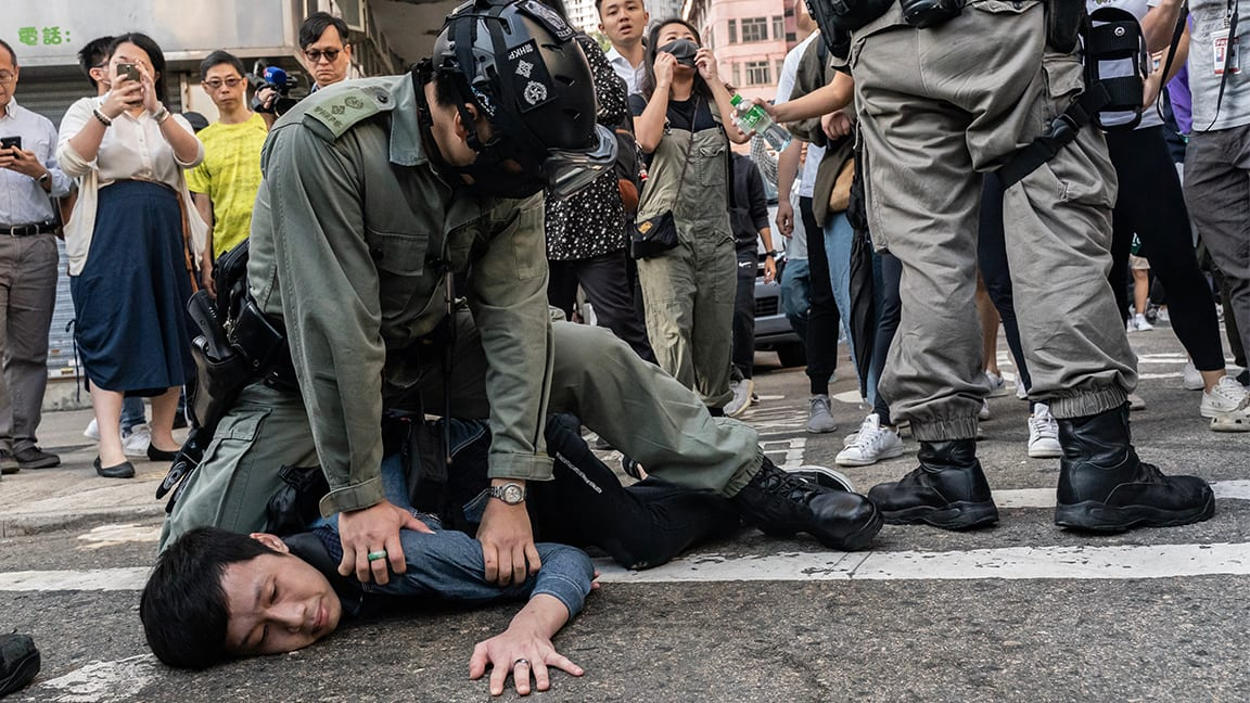 China Pushes Hong Kong Toward Civil War