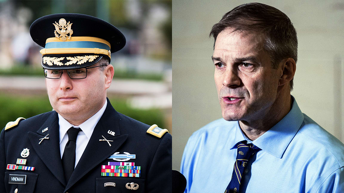 Alexander Vindman and Jim Jordan Are the Faces of the Impeachment Fight