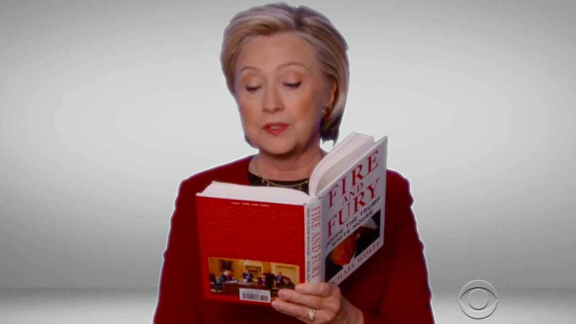 Hillary Clinton Roasts Trump at the Grammys by Narrating 'Fire and Fury'