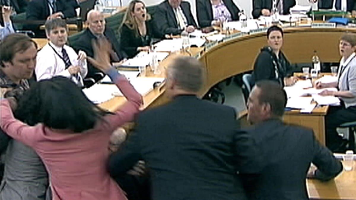 Wendi Deng Murdoch Smacks Down Rupert's Pie Attacker
