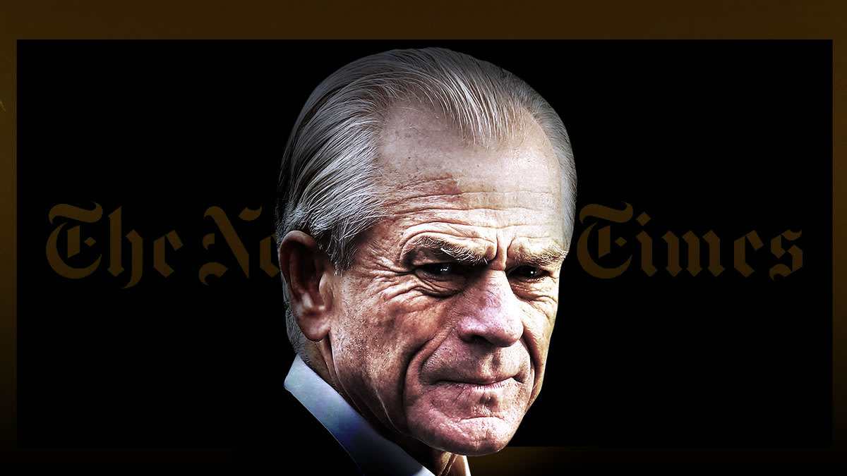 Trump's Top Trade Adviser Peter Navarro Has a Side Project: Secretly Hunting for 'Anonymous' 2