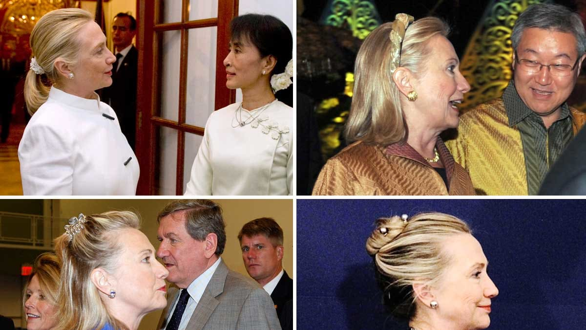 Hillary Clinton's 'Scrunchie Chronicles'; Azzaro To Make a Couture Comeback in Paris