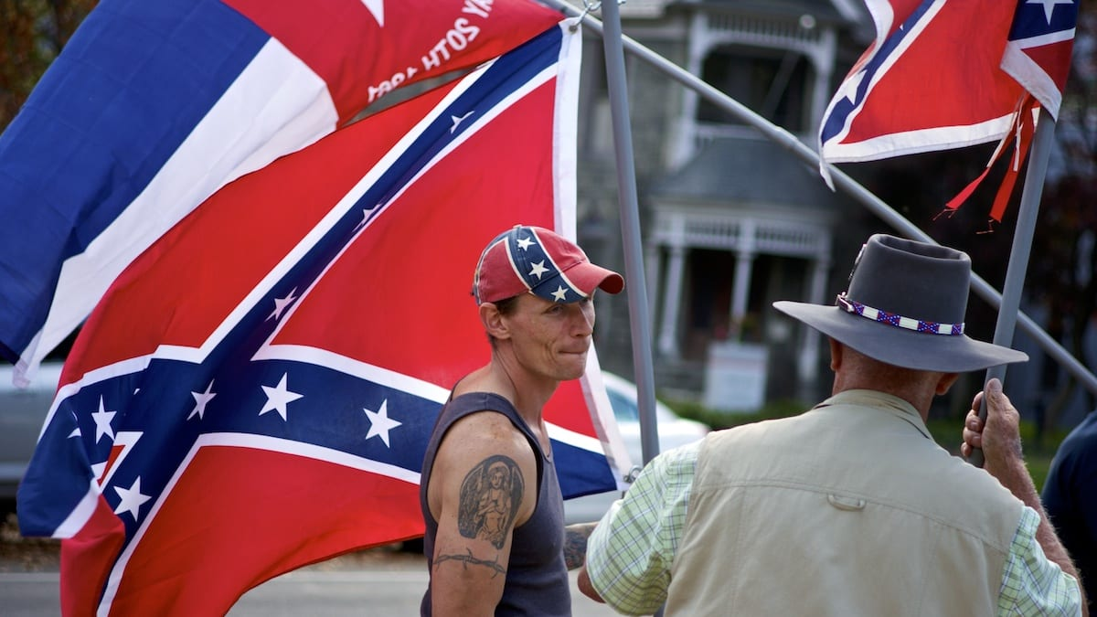 Pro-Confederate Protesters in Richmond Rally in Support of the Flag
