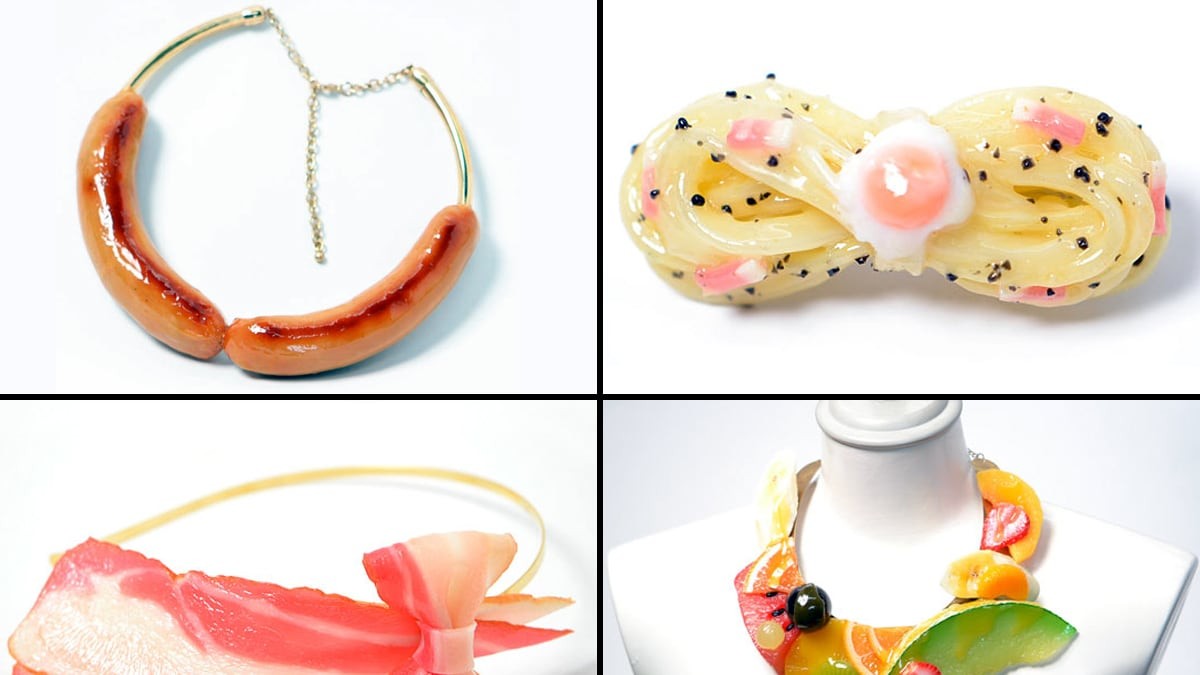 Japanese Company Fake Food Hatanaka Makes Food Jewelry and Headbands