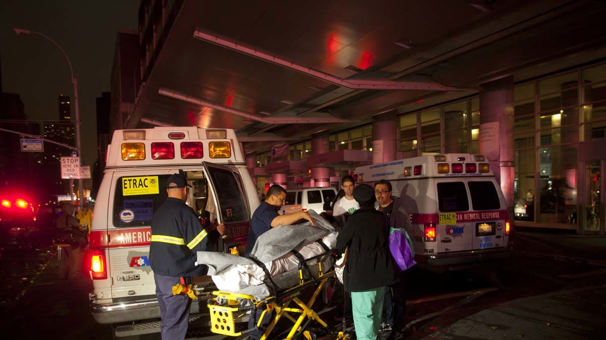 Hundreds Evacuated From NYU's Tisch Hospital in Hurricane Sandy