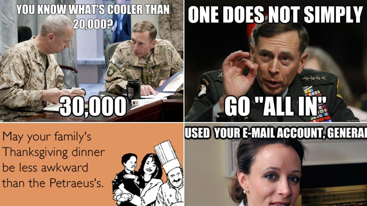 The Best Memes Of The Petraeus Affair