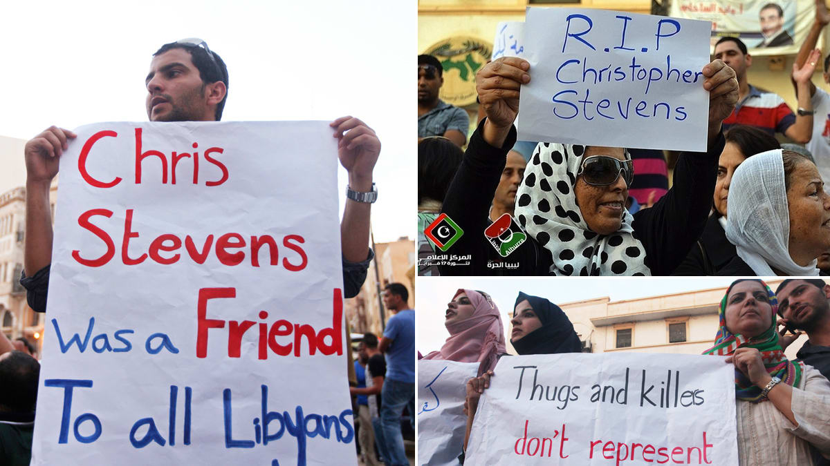 Protests against libyan embassy attacks photos sciox Choice Image