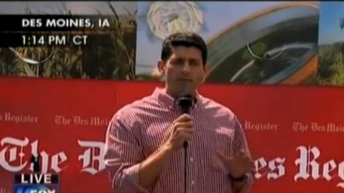 Paul Ryan Heckled in Iowa
