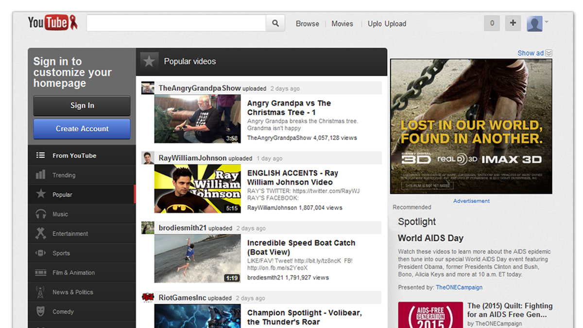 New YouTube Redesign Is Google's Latest Plot to Take Over TV