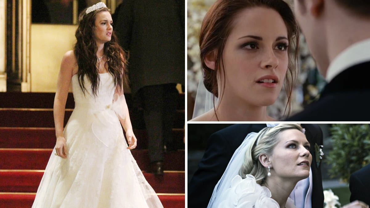 Famous wedding dresses kristen stewart kim kardashian and more brides on screen junglespirit Images