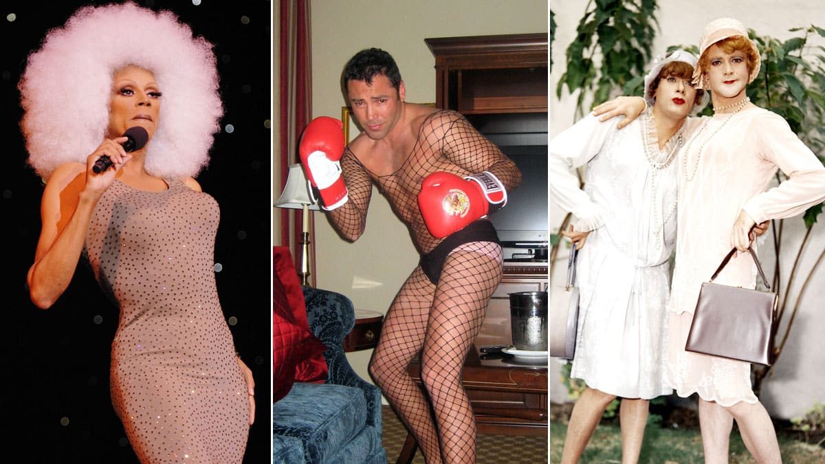 Gays dressed like women