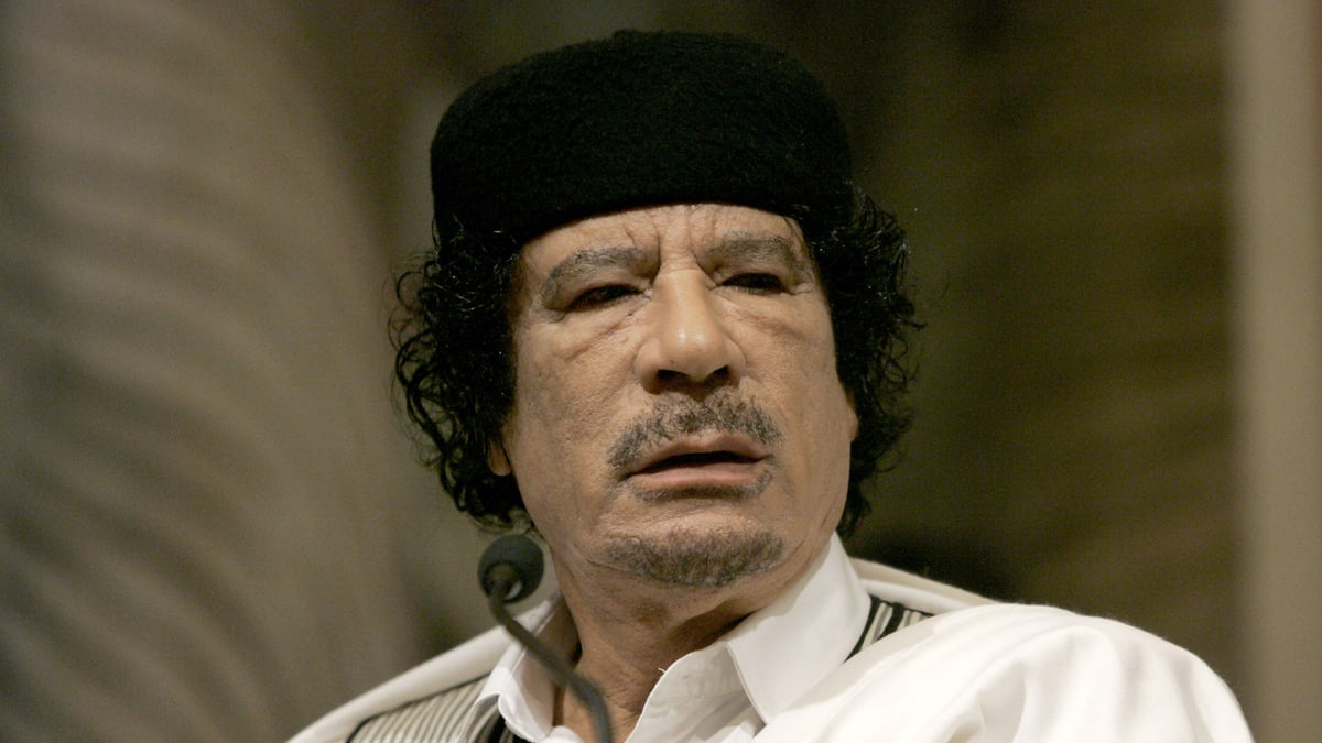 Image result for photo of gaddafi