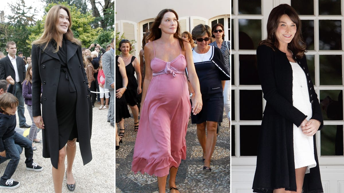 Image result for pregnancy photos of carla bruni