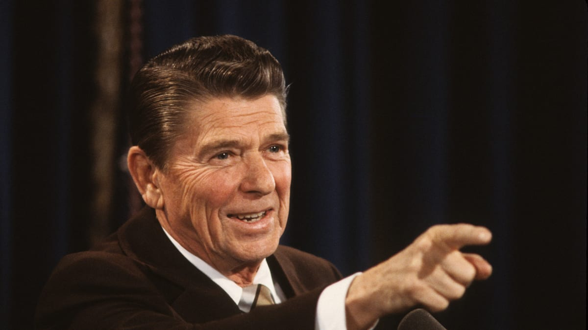 ronald reagan might have tough time winning in today's gop