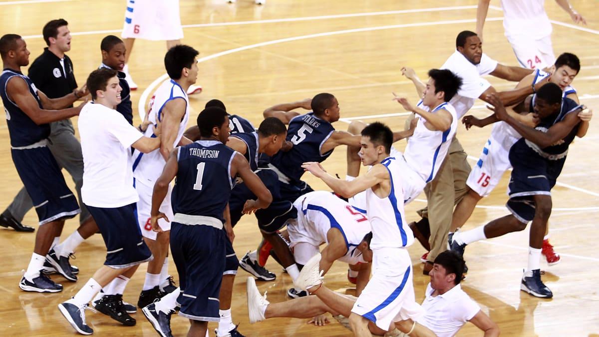 Afbeeldingsresultaat voor basketball brawl