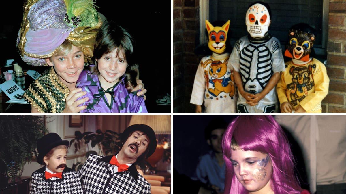 Halloween Kids.Vintage Kids Halloween