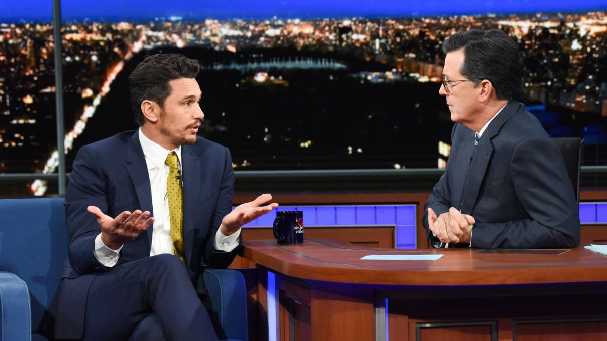 James Franco Grilled by Stephen Colbert Over Sexual-Misconduct Allegations
