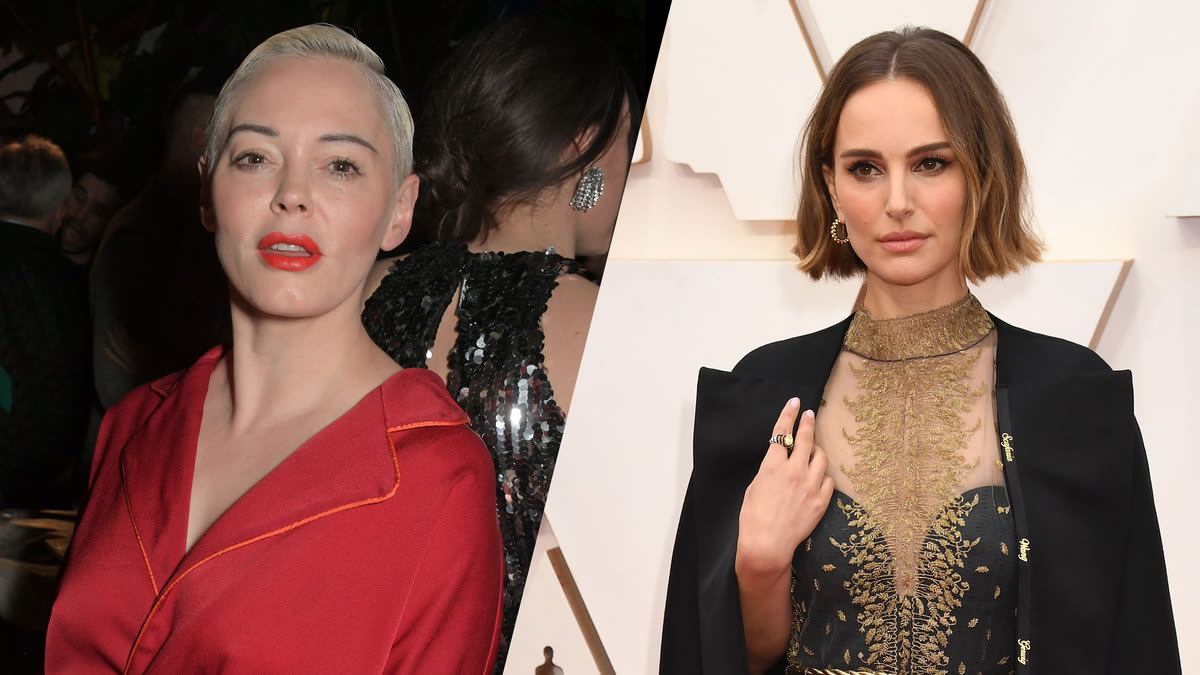 "Rose McGowan Rips Natalie Portman's Oscars Cape: ""You Are the Problem"""