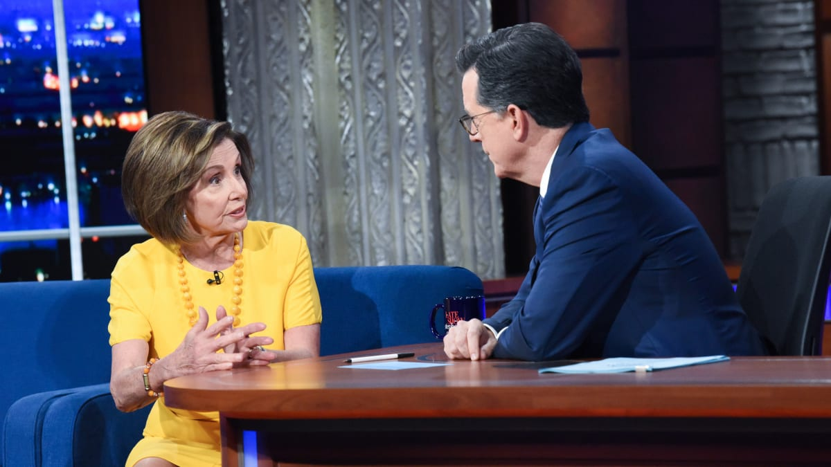 Nancy Pelosi to Colbert on Trump Impeachment Resolution: 'Nobody Is Above the Law'