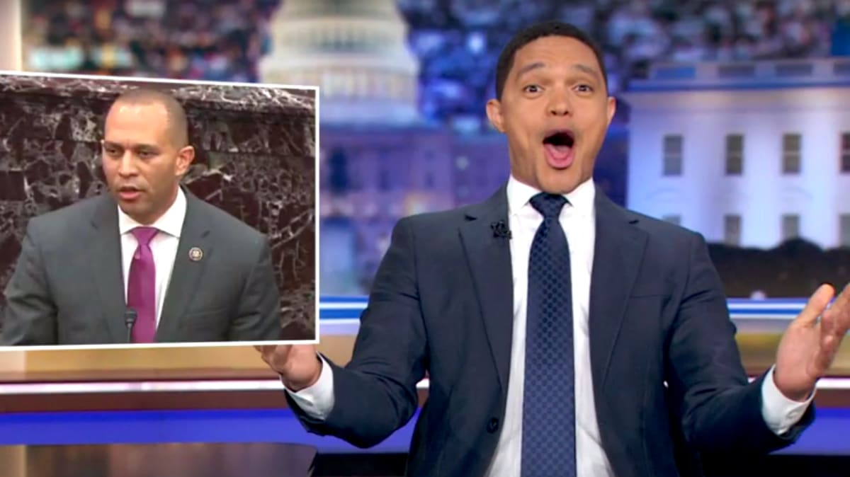 'Daily Show's' Trevor Noah Goes Wild Over Rep. Hakeem Jeffries' Trump Impeachment Shout-Out to Biggie Smalls