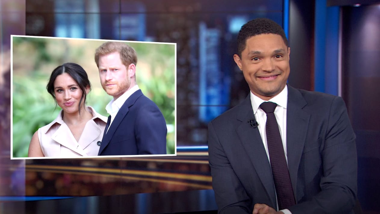 trevor noah shocked prince harry and meghan markle quit the royal family this is huge prince harry and meghan markle quit