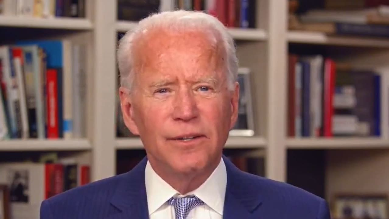 Biden Slams Trump for 'Spiking the Football' While U.S. Is Still in Recession