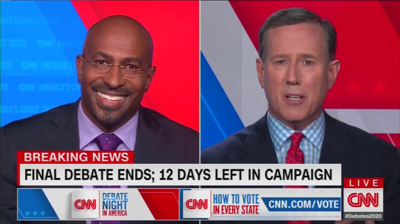 CNN Flies Off the Rails When Santorum Says Trump Was 'Never Called Racist' Before Presidency