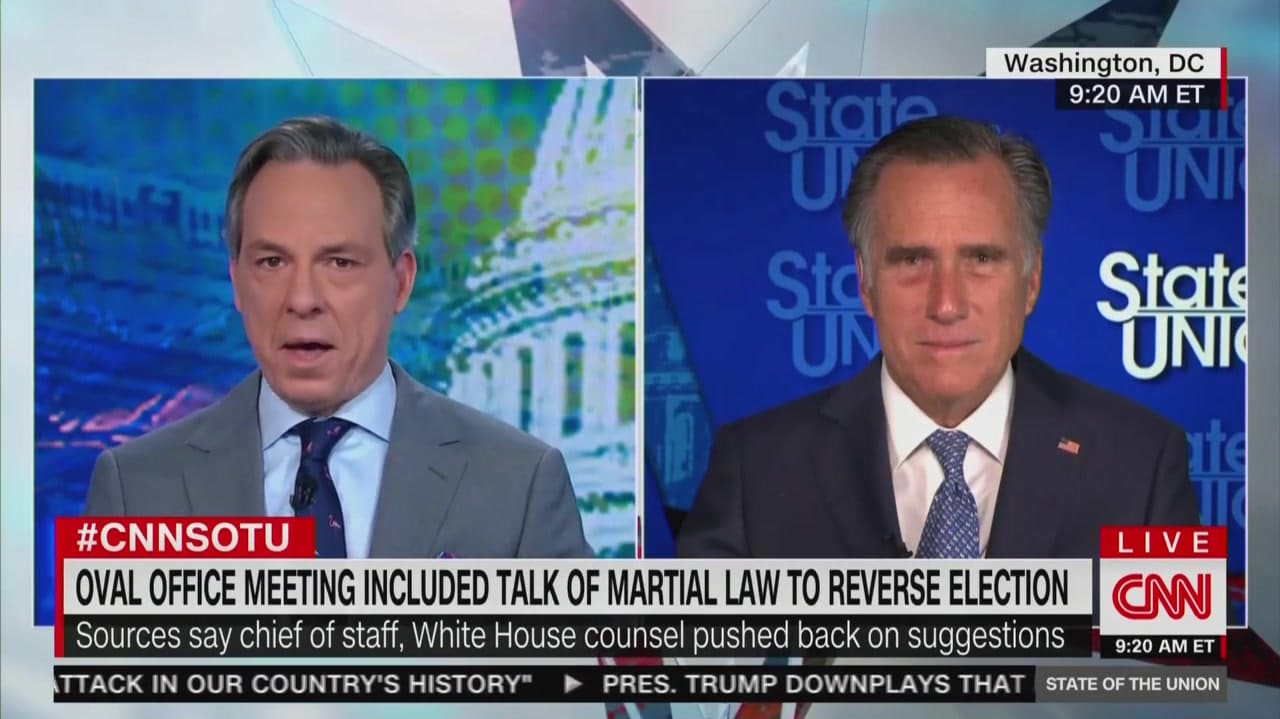 Romney Blasts Trump's 'Embarrassing' Flirtation With Martial Law: 'It's Going Nowhere'