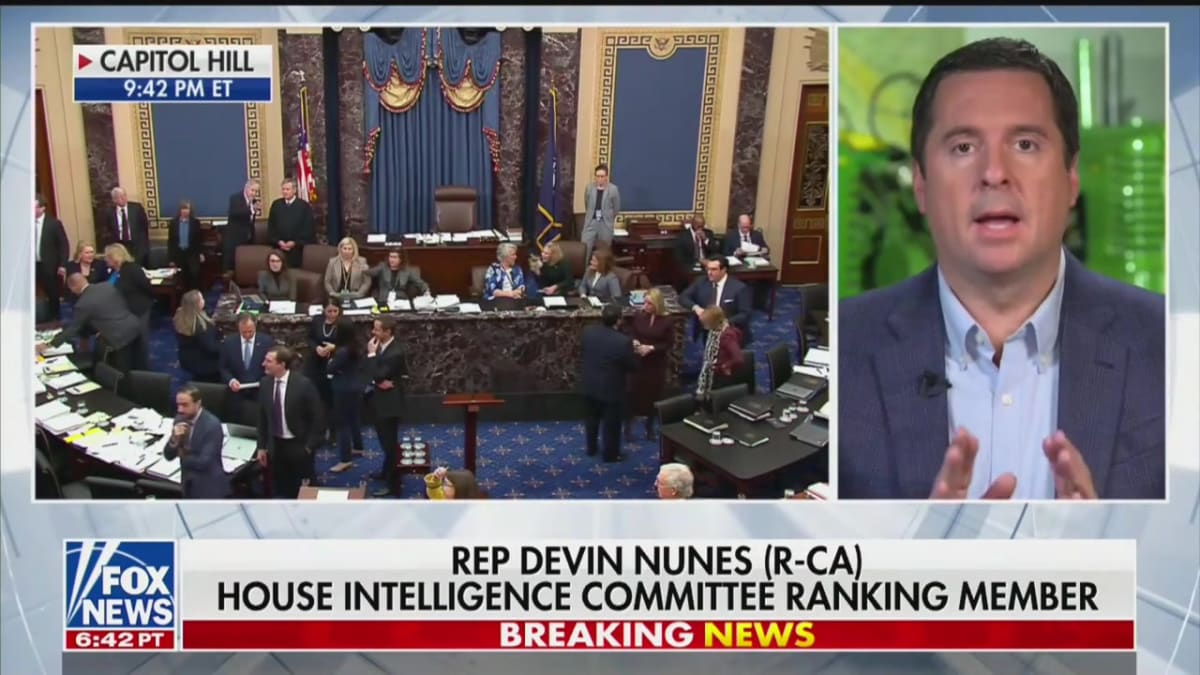 Sean Hannity Tells Rep. Devin Nunes That He's Been Vindicated in Ukraine Scandal