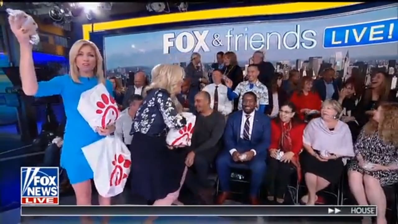 'Fox & Friends' Pelts Its New Live Audience With Chicken Sandwiches