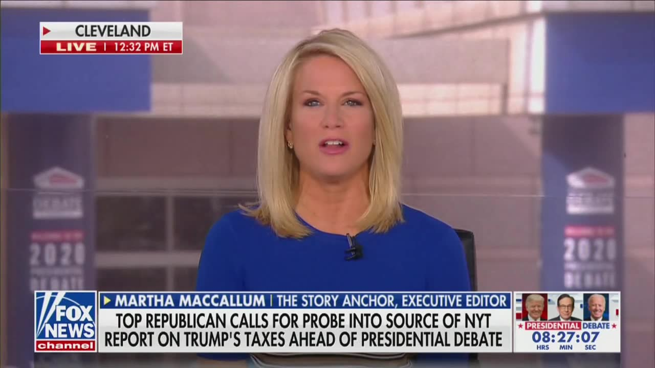 Fox 'Hard News' Anchor Floats Conspiracy That Biden Colluded With NYT on Trump Tax Story