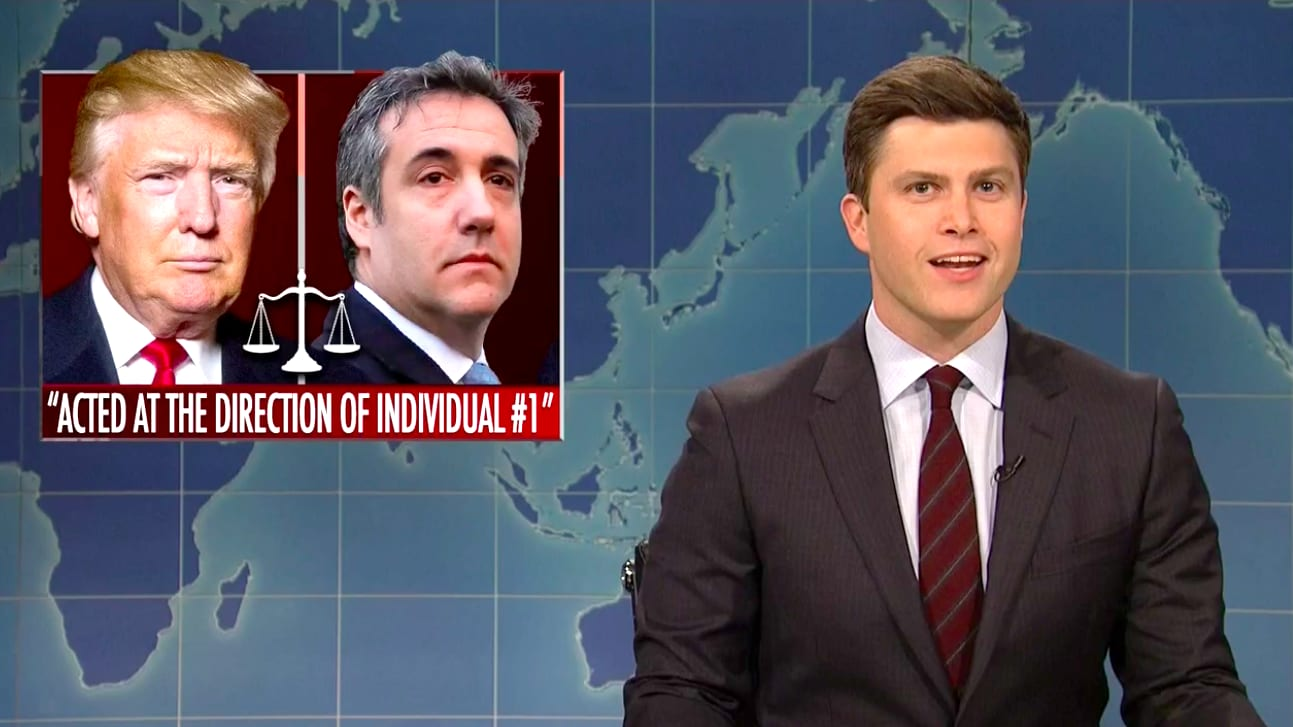 SNL's Weekend Update Trashes Trump's Cohen Defense: You're Not 'Totally Clear'