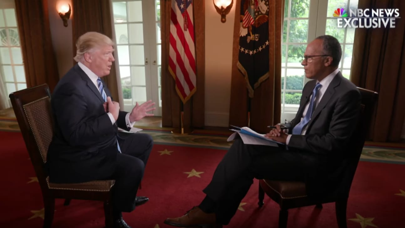 Trump Did Disastrous Lester Holt Interview Because He Didn't Trust His Own Staff