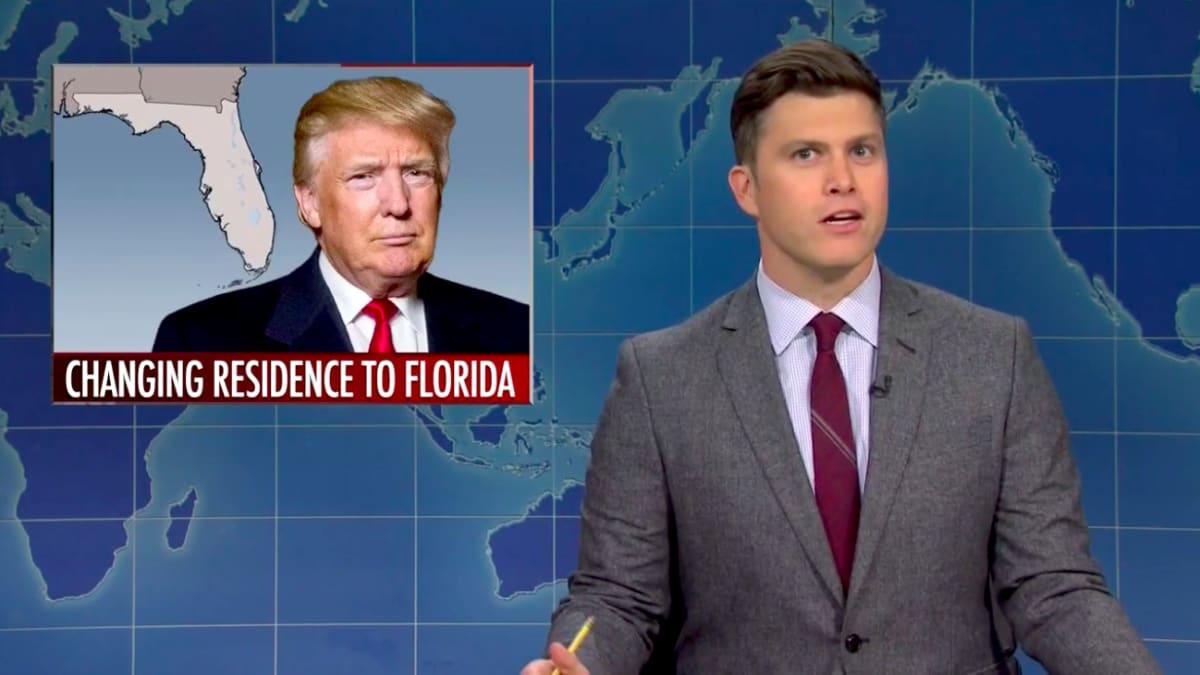 SNL's Weekend Update Applauds Trump's 'Genius Troll Move' of Leaving New York for Florida