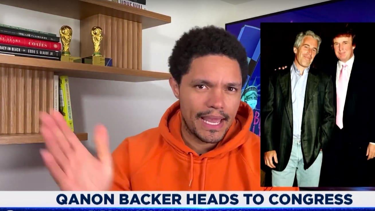 Trevor Noah Calls Out QAnon's Glaring Hypocrisy