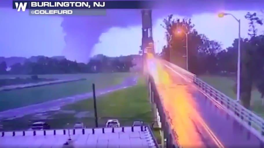 Crazy Footage Shows Tornado Passing Over Burlington-Bristol Bridge in New Jersey