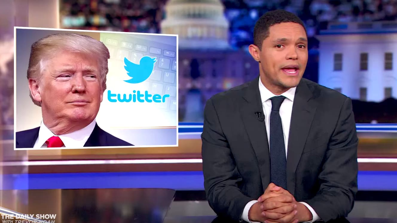 'The Daily Show's' Trevor Noah Goes After Trump Over 'Ridiculous' Twitter-Follower Complaints