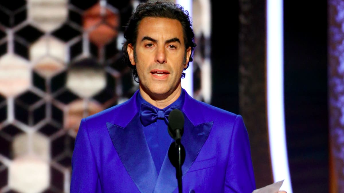 Sacha Baron Cohen Calls Out Facebook's 'Naive, Misguided Child' Mark Zuckerberg at the Golden Globes