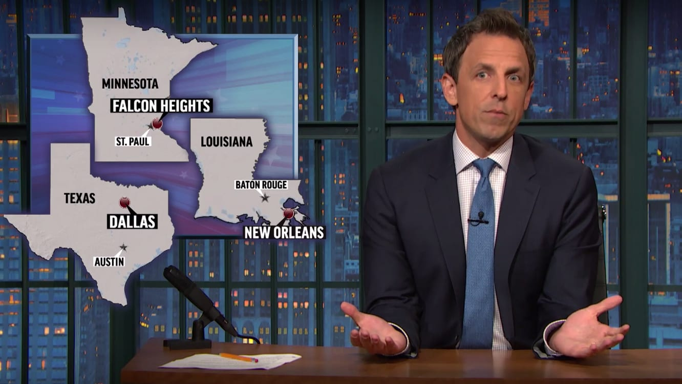 Seth Meyers: People Blaming Black Lives Matter for Dallas Need to 'Shut the F*ck Up'