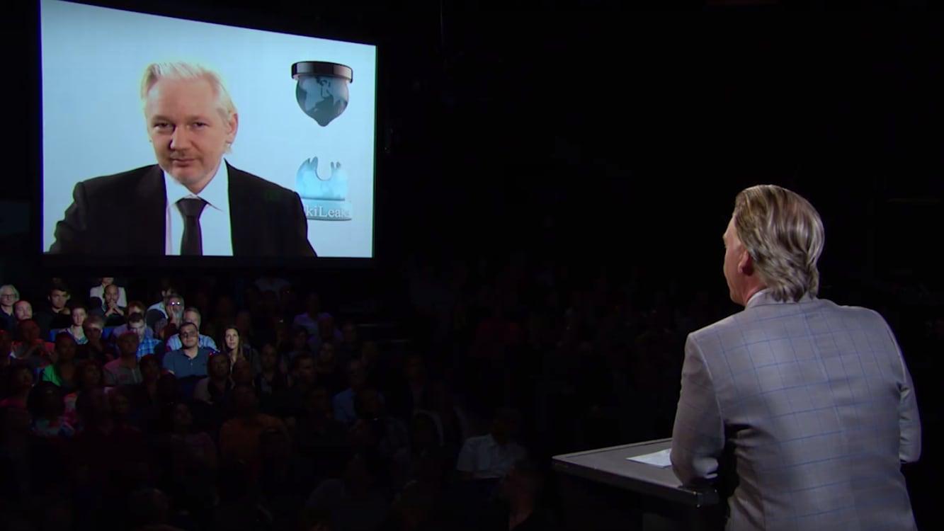 Julian Assange to Bill Maher: WikiLeaks 'Working On' Hacking Trump's Tax Returns