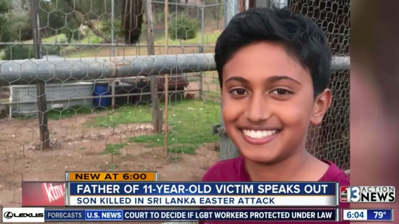 Dad Gives Heartbreaking Tribute to 11-Year-Old U.S. Kid Killed in Sri Lanka