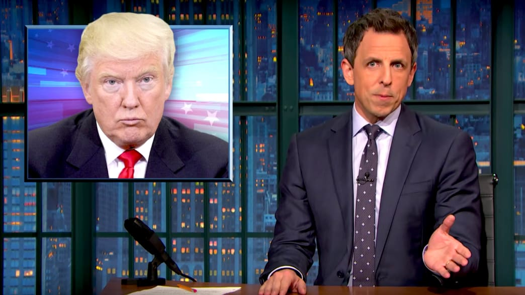 Seth Meyers on Russian Hacking Reports: Trump 'Has a Bizarre Affection' for Putin