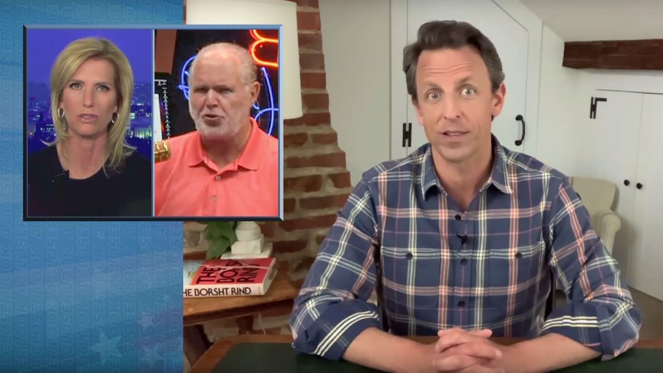 Seth Meyers Exposes Laura Ingraham's Anti-Mask Lunacy