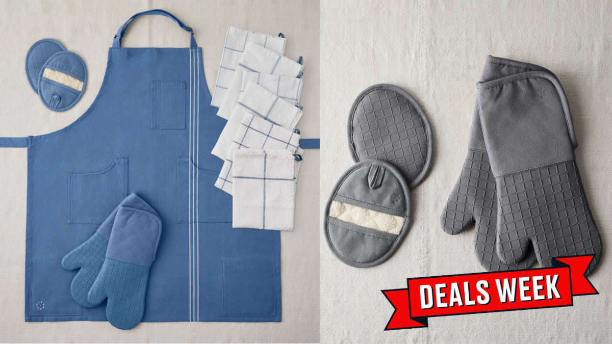 Food52's Highly-Rated Ultimate Kitchen Set Complete With Apron and Pot Holder Is On Sale, Today Only
