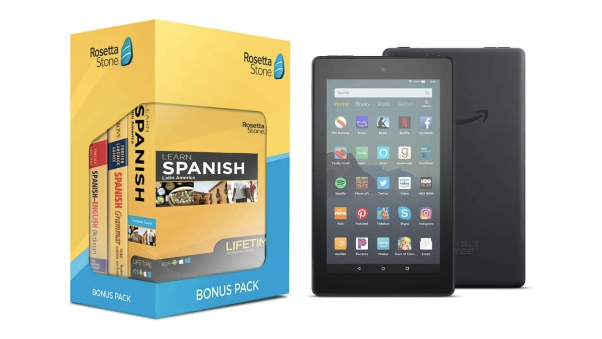 When You Buy Unlimited Rosetta Stone Access You Get a Fire 7 Tablet on Amazon