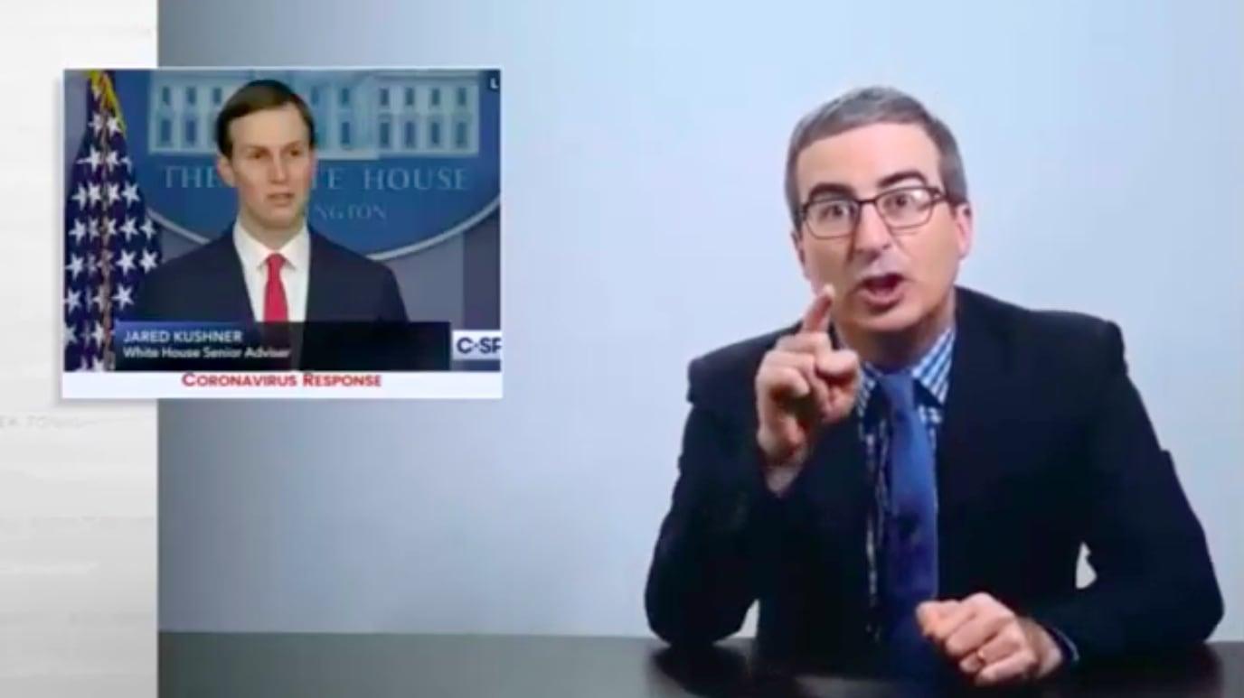 John Oliver Exposes 'Alt-Right Pinocchio' Jared Kushner's Coronavirus Idiocy