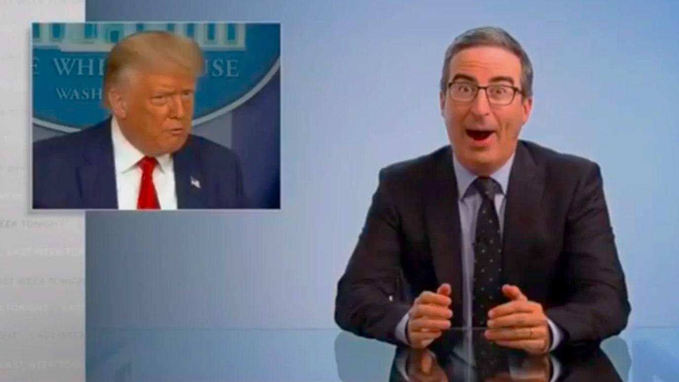 John Oliver Unloads on 'Idiot' Trump for Endorsing Dr. Demon Sperm